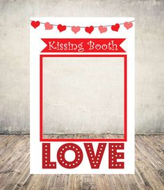 Kissing Booth Wedding Frame, Wedding Sign, Photobooth frame, Valentines Day Props, Photobooth Props, Selfie Prop Printable, DIY Frames, Digtial Download  This purchase includes high resolution DIGITAL files only. After checkout, there will be 2 Zip file containing 6 High Resolution JPEG Files and 6 PDF files.  ---------- Available sizes within Zip file ----------  - Extra Large - 36x54 - 4-5 people - Large - 36x48 - 3-4 people - Medium - 24x36 - 2-3 people - Small - 18x24 - 1-2 people - A1…