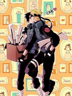 Really While on duty Naruto? Sasunaru, Itachi Uchiha, Hinata, Naruto Sasuke Sakura, Naruto Cute, Narusasu, Naruto Shippuden Sasuke, Anime Naruto, Comic Naruto