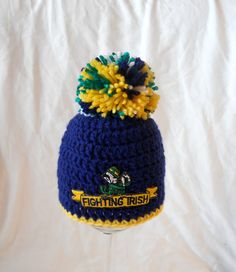 dcb99357634 31 Best Notre Dame Football Crochet Items I Have Made images