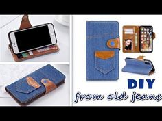 DIY Flip phone case tutorial for handmade lovers)) To Make a cute phone case really easy. And it has the credit card holder in. Diy Wallet Phone Case, Flip Phone Case, Flip Phones, Cute Phone Cases, Old Jeans, Diy Cards, Samsung Cases, Samsung Galaxy, Designer Purses