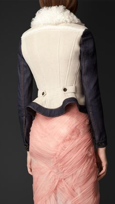 Shearling and Denim Jacket | Burberry