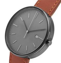 UNIFORM WARES M40 PVD. #uniformwares Uniform Wares, 5 Bar, Stainless Steel Case, Minimalist Design, Tan Leather, Mens Fashion, Gray, Moda Masculina, Minimal Design