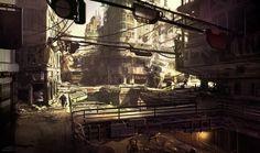 RAGE Dead City, sparth - nicolas bouvier on ArtStation at http://www.artstation.com/artwork/rage-dead-city