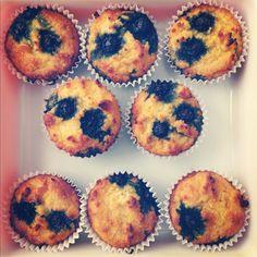 summer harms: Blueberry Lemon Coconut Flour Muffins