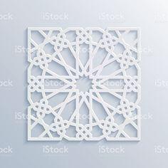 Islamic geometric pattern. Vector muslim mosaic, persian motif. illustracion libre de derechos libre de derechos