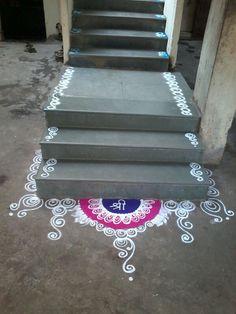 Easy Rangoli Designs Videos, Simple Rangoli Border Designs, Rangoli Designs Latest, Rangoli Designs Flower, Free Hand Rangoli Design, Small Rangoli Design, Rangoli Designs Diwali, Rangoli Designs With Dots, Beautiful Rangoli Designs