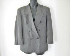 Punk Blazer Distressed Jacket 80s Blazer Punk by TheVilleVintage, $29.99