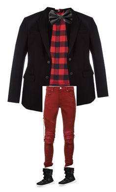 """#chritsmas #red #mode #paris#france#street#arts#unique#gq#boys#different#style#stylish #fashion#fashionist#fashionista#france#mode#moda"" by coolmode on Polyvore featuring Dior Homme, Givenchy, AMIRI, men's fashion et menswear"