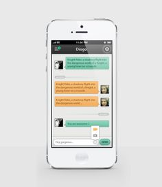 Chat IOS App by Daniela Alves. #dribble #ui