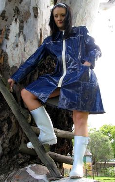 Rubber Wellies boots rain jacket