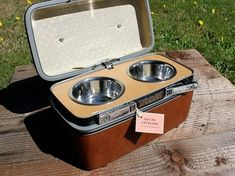 Old TVs, Suitcases and VCRs Upcycled into Vintage Pet Products : TreeHugger