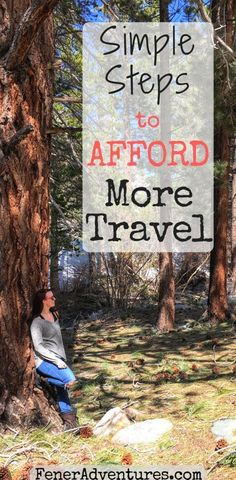 Want to travel more? READ: Simple Steps to Afford More Travel — www.FenerAdventures.com  ...   budget travel, cheap travel, travel tips, backpacking asia, backpacker, trip itinerary, road trip, save money, frugal #savemoneytraveling