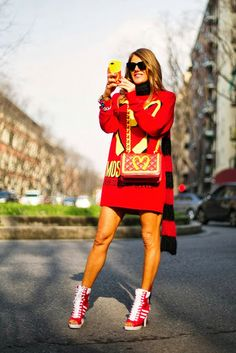 Anna Del Russo does it like anyone else.  Fun!
