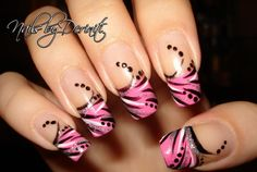 trendy pink nail designs tips 2013