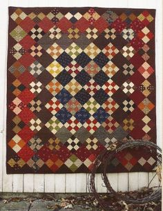 Primitive Folk Art Wall Quilt Pattern:  QUEST FOR FREEDOM