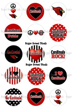 INSTANT DOWNLOAD Black red Cardinals School by sugarnspicebow