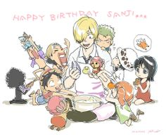 Happy Birthday Straw hat Pirates chef Sanji! March 2