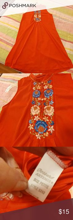 Vintage 70s Gossard Artemis house dress nightie Vintage 70s fun red house dress or nightie with floral embroidery from Gossard Artemis.  Size petite (small).  Excellent (like new) condition.  Beautiful!  Price firm unless bundled. Vintage Intimates & Sleepwear