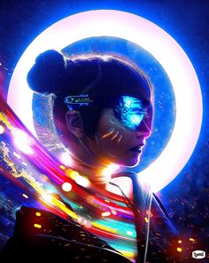 """Jonathan Hasson, or known as Lumi (Thinklumi), is a digital artist based in Los Angeles, CA. Lumi, who says """"Art should come from the heart"""". Cyberpunk 2077, Cyberpunk Girl, Arte Cyberpunk, Cyberpunk Character, Cyberpunk Fashion, Cyberpunk Aesthetic, Neon Aesthetic, Tumbrl Girls, Steampunk"""
