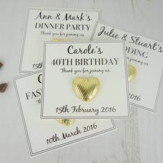 I've just found Celebration Chocolate Heart Card. Having a party? These stylish party favours are a great gift for any occasion. Special year gift cards by tailored chocolates and gifts. £1.95