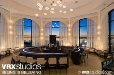 This image highlights the stylish grandeur of the C & B Scene Bar and Lounge at the #Hilton Rockwall, Texas. View more stunning photography here: http://www.vrxstudios.com