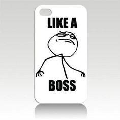 Like A Boss Meme iPhone case