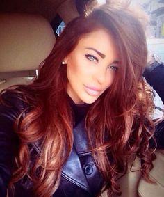 Gorgeous Red  #hairinspiration #haircolor #bighair