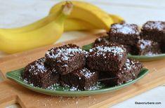 Negresă de post cu banane, fără făină (gluten) - rețeta de brownies vegane | Savori Urbane