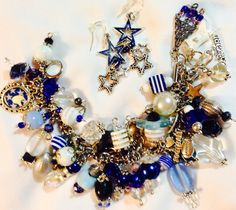 Dallas Cowboys Charm Bracelet with Matching by TeriClothCreations