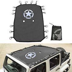 Jeep Wrangler Durable Mesh Sun Shade Full Top Cover UV Protection. LOVE!!