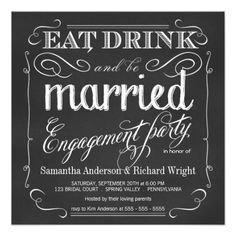 >>>Cheap Price Guarantee          	Eat Drink be Married Engagement Party Invitations           	Eat Drink be Married Engagement Party Invitations We provide you all shopping site and all informations in our go to store link. You will see low prices onShopping          	Eat Drink be Married Eng...Cleck Hot Deals >>> http://www.zazzle.com/eat_drink_be_married_engagement_party_invitations-161694644947999969?rf=238627982471231924&zbar=1&tc=terrest