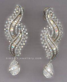 Chandelier Diamond Earrings   #jewellery #jewelry