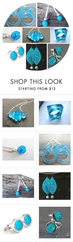 Bright Blue Jewellery by andreadawn1 on Polyvore featuring MATÌ