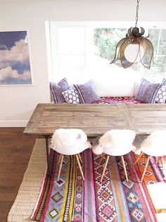 <3 the table, pillow, the light... would go great with the mustard yellow couch..