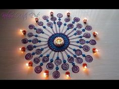 Rangoli Designs with colours - Happy New year Special Rangoli - by Maya! - YouTube