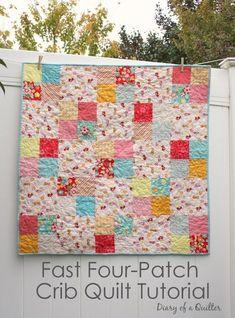 Quilt Tutorial - easy beginner quilt pattern