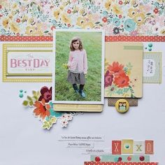 #papercraft #scrapbook #layout - XOXO by sophie crespy at @studio_calico