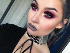 """Wild Cat on Instagram: """"For my look yesterday I used a bunch of products from one of my favorite cruelty-free brands @ritueldefille. For this look I used Viscera Ash and Ember Eye Soot, Delirium Inner Glow Cream Blush, and Strange Creature Forbidden Lipstick on my lips with a little translucent powder for a more matte finish. If you haven't tried any of their products, I HIGHLY recommend them! I'll post an eye closeup a little later Choker: @regalrose❤️ #ritueldefille #crueltyfree…"""