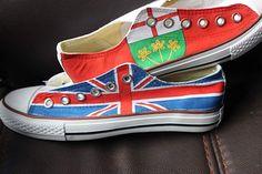 689e12cfbdba10 Flag Men Women High Top Sneaker Canada Flag UK Flag Hand Painted Canvas  Sneaker Unique Presents Fashion Shoes
