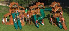 Ideas for backyard playground plans tree houses Large Backyard Landscaping, Backyard Swings, Backyard Sheds, Backyard For Kids, Playground Set, Backyard Playground, Plastic Playground, Wooden Climbing Frame, Climbing Frames