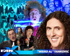 Meet Weird Al Yankovic at #FANX17! Known for his humorous parody and pop culture songs and music videos. #utah