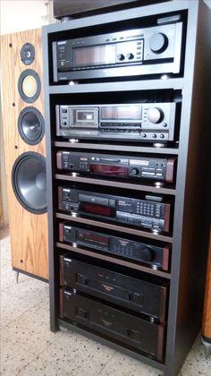 sony es Hifi Speakers, Hifi Audio, Radios, Home Theater Speaker System, Retro, Audio Rack, Hi Fi System, Audio Music, Home Theater Rooms