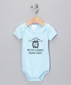 Blue Worlds Cutest Alarm Clock Bodysuit - Infant | Daily deals for moms, babies and kids