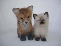 Needle Felted Red Fox Cub by Tamara111, via Flickr