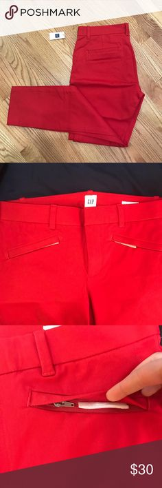 GAP Bi stretch skinny ankle work pants These bright pants are so cute and fun! GAP Pants Ankle & Cropped