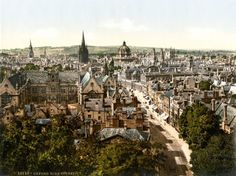 General view and High Street, Oxford, England between 1890(1890) and 1900