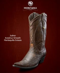 #Montana #Botas #Juarez #AvestruzSmooth #Modelo JR203A2 #Color MantequillaExtasis #MontanaisBack