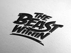 The Beast Within logo design #typography #design #inspiration