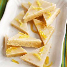 Lemony Glazed Shortbread Bars