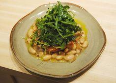 Salmon with Cannellini Bean Salad and Arugula | SeasonsTaproom.com